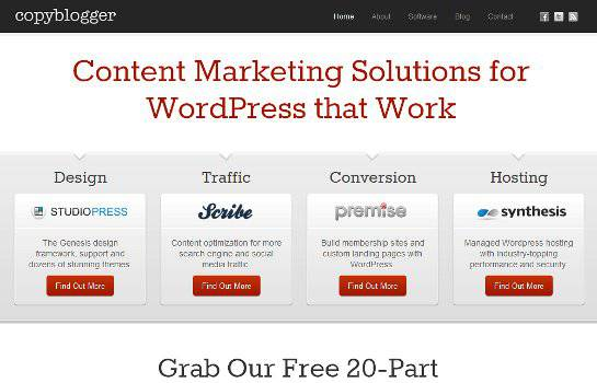 CopyBlogger.com Homepage