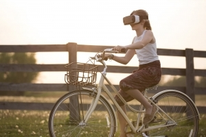 Virtual reality bike ride-what is the truth?